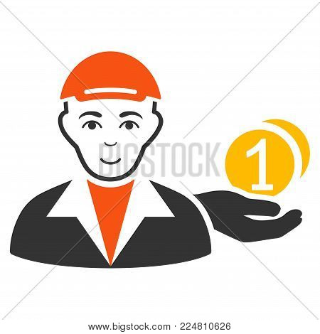 Payer vector flat pictogram. Human face has gladness feeling. A boy in a cap.