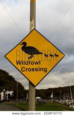 Wildfowl Crossing Sign