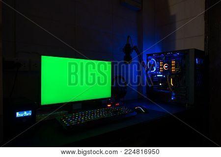 High-End Computing Green screen  technology gaming pc