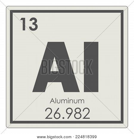 Aluminum Chemical Element Periodic Table Science Symbol