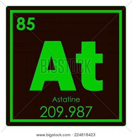 Astatine Chemical Element Periodic Table Science Symbol