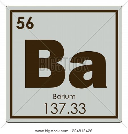 Barium Chemical Element Periodic Table Science Symbol