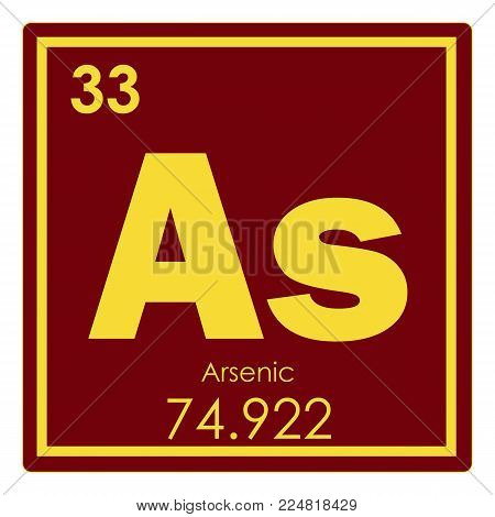 Arsenic Chemical Element Periodic Table Science Symbol
