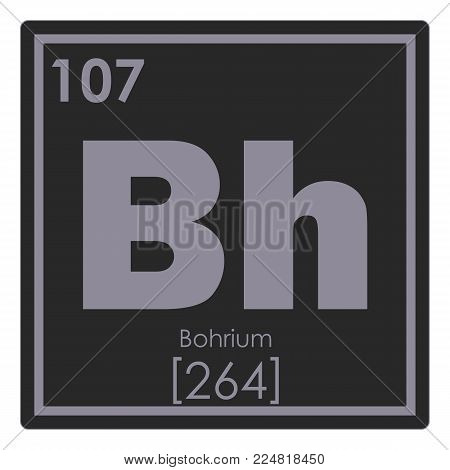 Bohrium chemical element periodic table science symbol