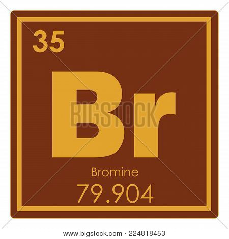 Bromine chemical element periodic table science symbol