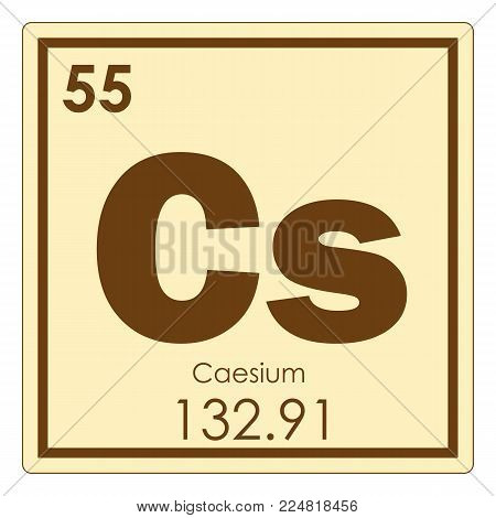 Caesium chemical element periodic table science symbol
