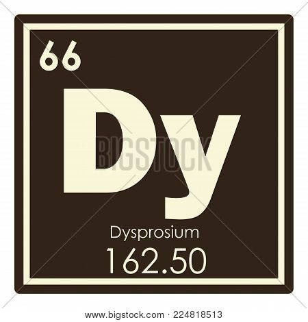 Dysprosium chemical element periodic table science symbol