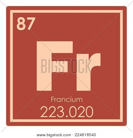 Francium chemical element periodic table science symbol