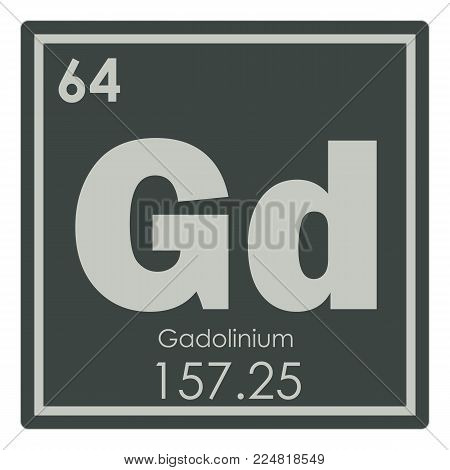 Gadolinium chemical element periodic table science symbol