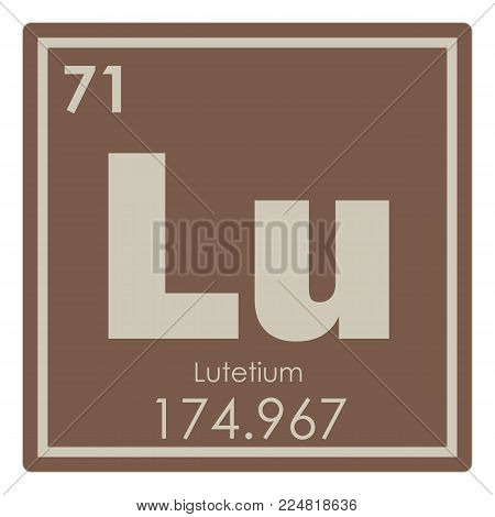 Lutetium chemical element periodic table science symbol