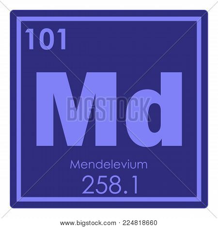 Mendelevium chemical element periodic table science symbol