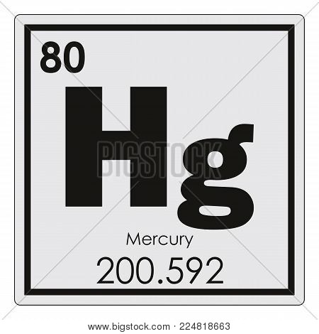 Mercury chemical element periodic table science symbol