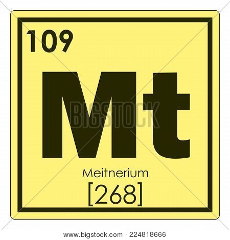 Meitnerium chemical element periodic table science symbol