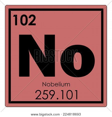 Nobelium chemical element periodic table science symbol