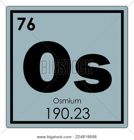 Osmium chemical element periodic table science symbol