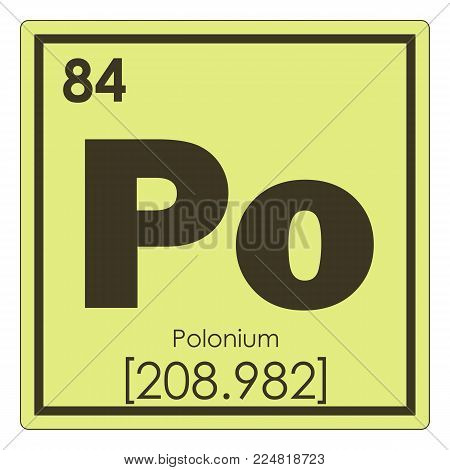 Polonium chemical element periodic table science symbol