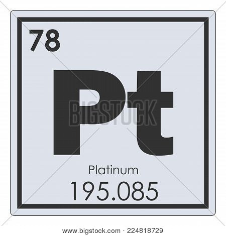 Platinum chemical element periodic table science symbol