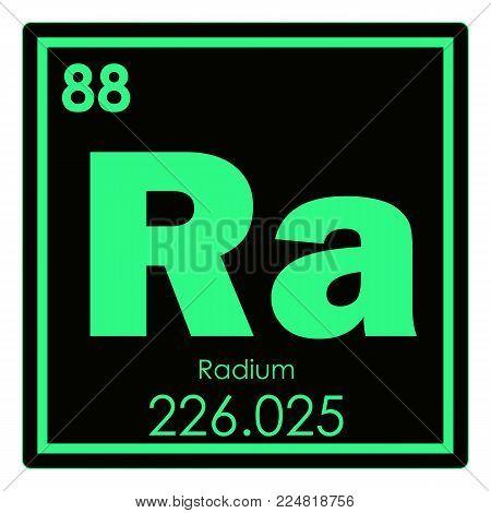 Radium chemical element periodic table science symbol poster