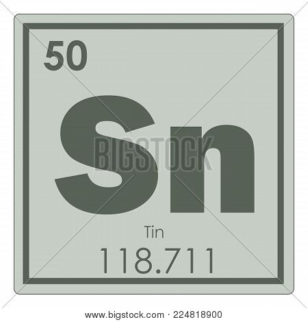 Tin chemical element periodic table science symbol