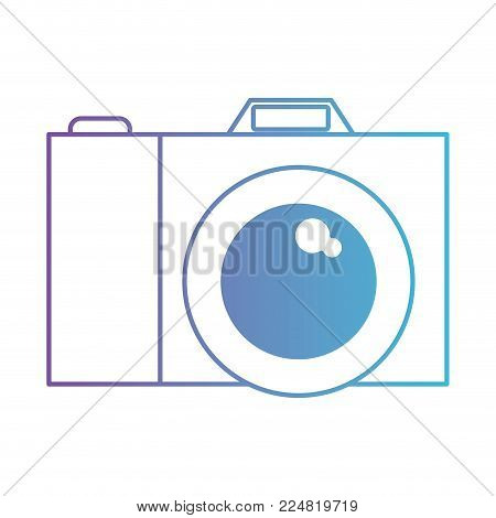 photo camera picture lens image photograph vector illustration