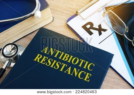 Book with title Antibiotic resistance in a hospital.