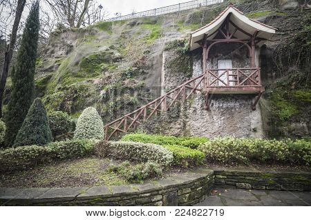 Portugalete,spain-january 10,2017:garden, Park, Parque Doctor Areilza In Portugalete,basque Country,