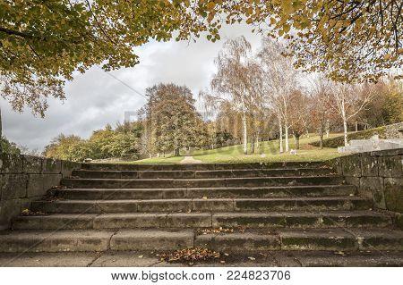 Park, Parque de San Domingos de Bonaval.Santiago de Compostela, Galicia, Spain.