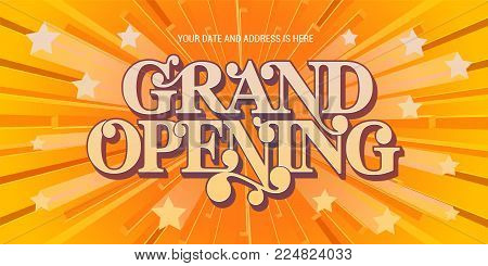 Grand opening vector background. Nonstandard design element for banner for opening ceremony with elegant abstract background