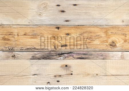 Natural background of old wood, with signs of deterioration