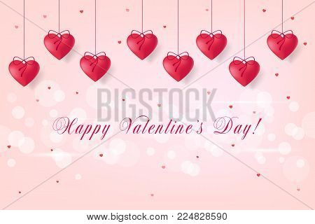 Valentines Day Sale Banner For Online Shopping. Vector Illustration
