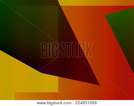Abstract decorative dynamic expressionism, creative colorful futuristic advertising