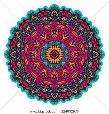 Indian Floral Paisley Medallion. Ethnic Mandala Ornament.ornate Damask Background. Paisley Seamless