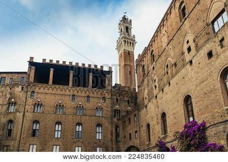 The Palazzo Pubblico is a palace in Siena, Tuscany, central Italy. Construction began in 1297 and its original purpose was to house the republican government