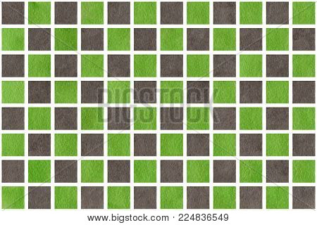 Watercolor Grey And Green Squares