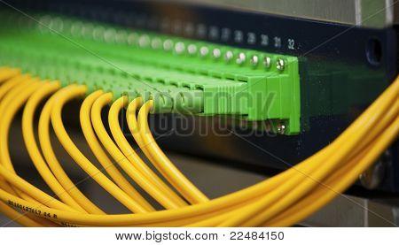 Fiber optics panel