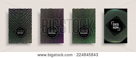 2763608 Cover Design Template, Set With Abstract Fluid Colors. Business Modern A4 Page Layout. Color