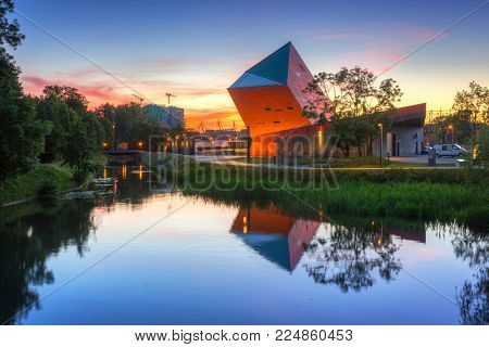 GDANSK, POLAND - JUNE 21, 2017: Museum of the Second World War in Gdansk, Poland. The Museum main exhibition covering an area of about 5,000 square metres.