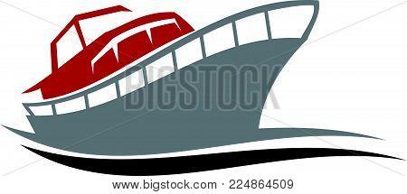 Yacht Charters Island Logo Design Template Vector