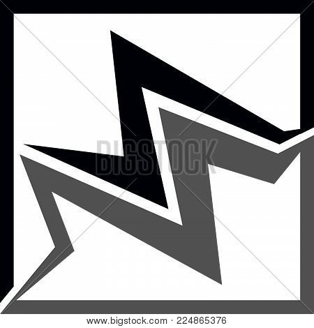 Letter Ms Bolt Logo Design Template Vector