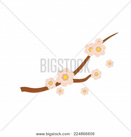 Simple Japanese Sakura Flower Illustration