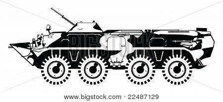 armored troop-carrier.