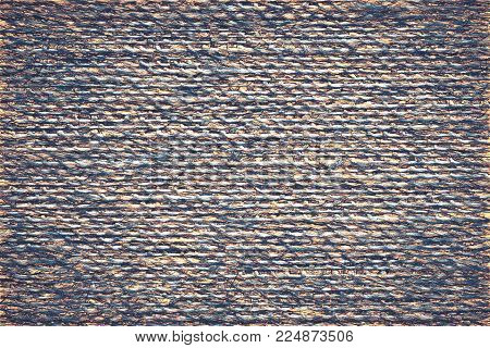 Illustration Of Speckled Abstract Texture Of Fabric Or Textile Material Of Jeans Color For A Backgro