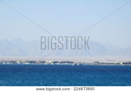 The Hurghada Marina is the notable tourist landmark, there are always many luxury yachts, tourist boats and ships for the best trips along the coast, Egypt.