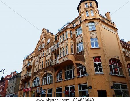 Poznan, Poland - December 02, 2017: Architecture in the center of Poznan