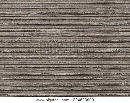 Gray flaky seamless stone texture background pattern. Stone seamless texture surface with horizontal lines layers. Stone linear seamless texture. Dark gray beige seamless background layered texture. Stone structure texture pattern