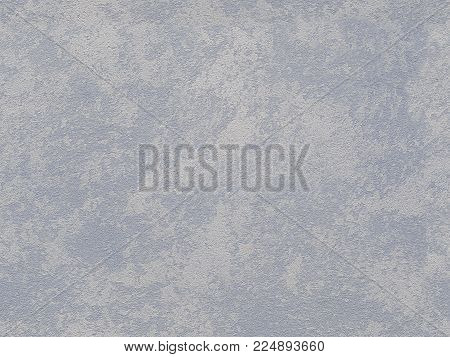 Seamless white gray blue venetian plaster background stone texture. Traditional venetian plaster stone texture grain pattern drawing. Classic stucco plaster stone texture. Blue traditional Venetian plaster wall texture