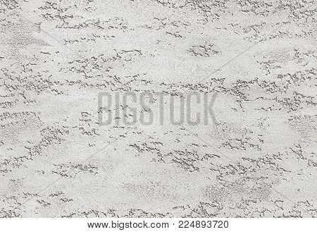 Gray white background seamless stone texture venetian plaster style decorative element. Traditional venetian plaster stone texture grain drawing. Stone rock grunge texture interior decoration. White gray stucco seamless texture