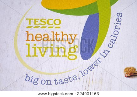 London, Uk - December 18th 2017: The Logo Displayed On The Healthy Living Range Of Food Products By