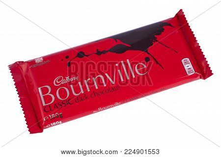 London, Uk - December 18th 2017: A Bournville Chocolate Bar, Manufactured By Cadbury, On 18th Decemb