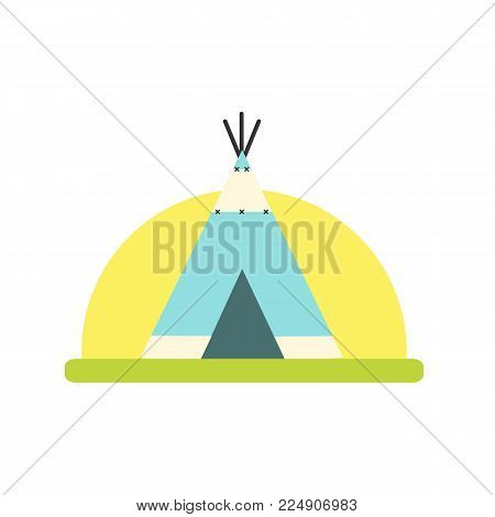 Indian tent icon isolated on white background. Wigwam icon. Vector stock.